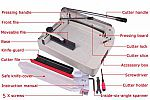 Thick Layer Paper Cutter 868 - A3 (Free 1 Pisau)