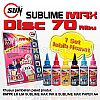 1 Set CMYK LC LM SUBLIME MAX INK + SUBLIME MAX PAPER A4