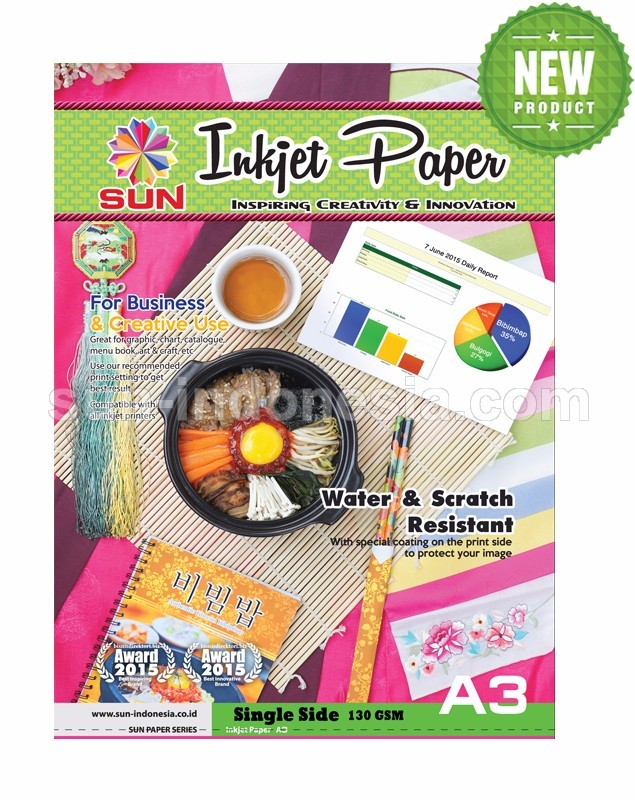 SUN Next Generation INKJET PAPER A3 130 Gsm - Single Side