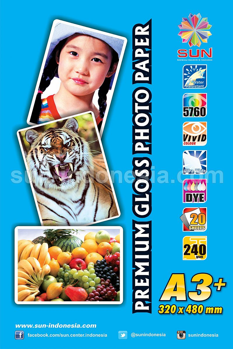 Premium Gloss Photo Glossy Paper 240 Gsm A3+