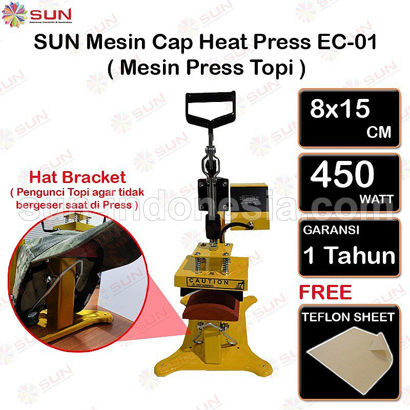 SUN - CAP HEAT PRESSC EC-01 MACHINE