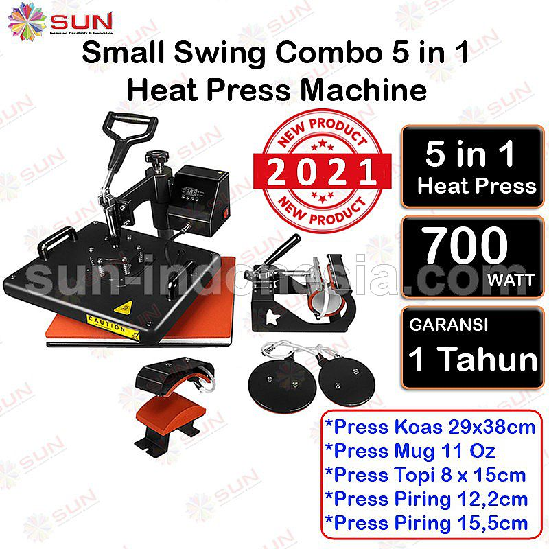 5 In 1 Combo Heat Press