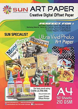 SUN DURA ULTRA ART PAPER INK 100 ML (SET 6 WARNA) + Art Paper 1 Pack (Gratis Ongkir Ke Seluruh
