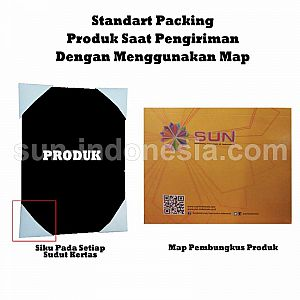 SUN PVC ID Card A4 Gold 0,76 - Isi 5 Set