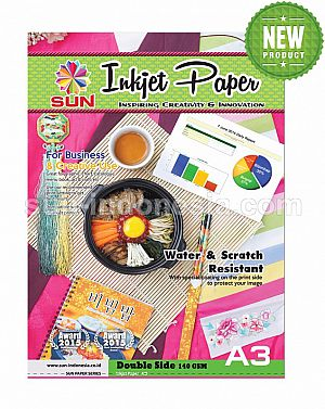 SUN Next Generation INKJET PAPER A3 140 Gsm - Double Side