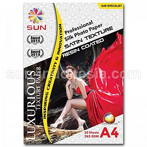 SUN PROFESSIONAL SILK PHOTO PAPER 265 GSM A4 - SATIN TEXTURE
