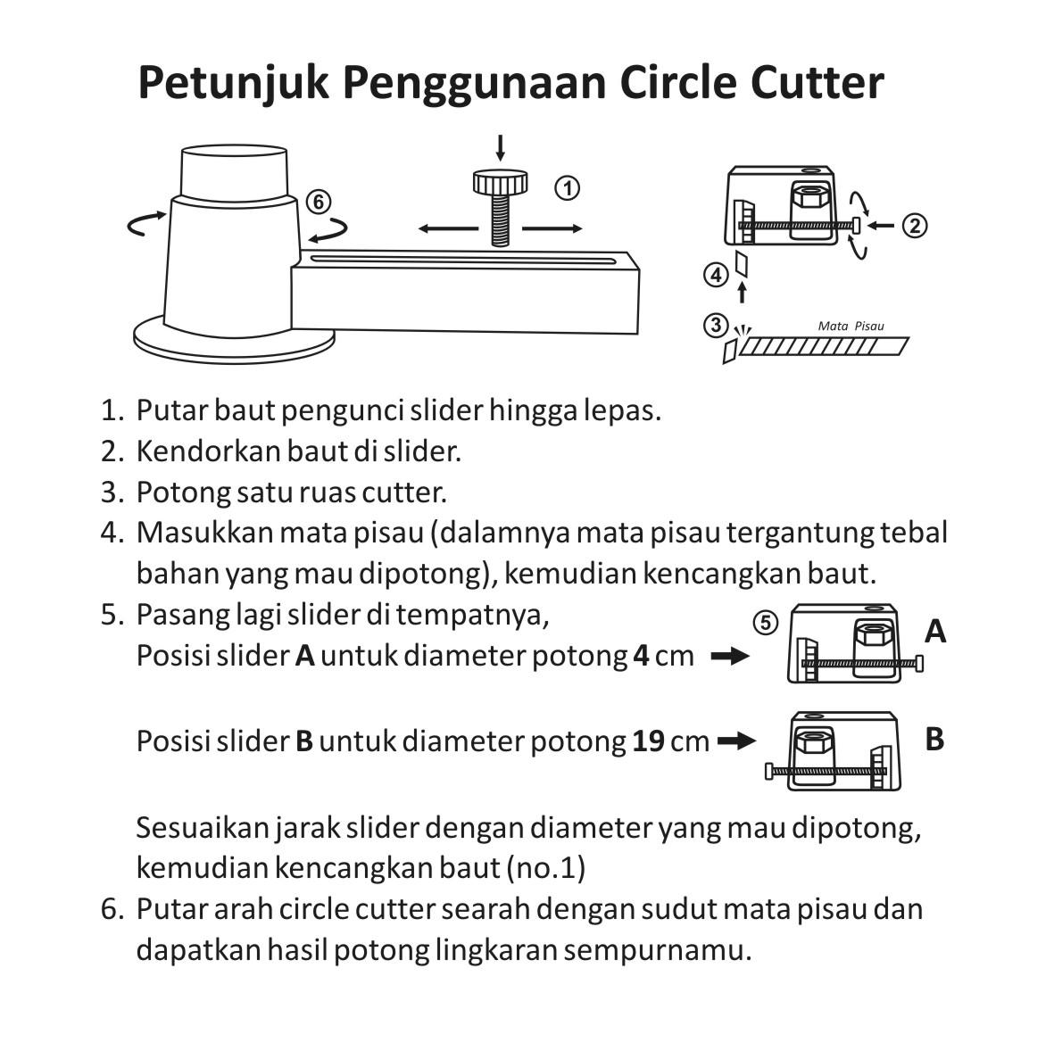 Manual circle Cutter